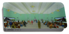 Portsmouth Ohio Train Station Interior 1940s Portable Battery Charger