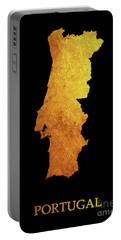 Portugal - Gold Black Portable Battery Charger
