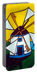 Portuguese Singing Windmill By Dora Hathazi Mendes Portable Battery Charger by Dora Hathazi Mendes
