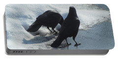 Posing Crows Portable Battery Charger by Betty Pieper