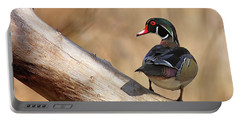 Posing Wood Duck Portable Battery Charger