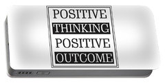 Positive Thinking Positive Outcome Portable Battery Charger