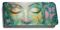 Portable Battery Charger featuring the painting Possibilities Meditation by Sue Halstenberg
