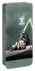 Portable Battery Charger featuring the photograph Post No Bills by Marvin Spates