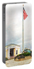 Post Office In Seaside Florida Portable Battery Charger by Vizual Studio