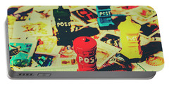 Postage Pop Art Portable Battery Charger by Jorgo Photography - Wall Art Gallery