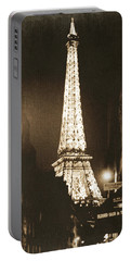 Postcard From Paris- Art By Linda Woods Portable Battery Charger