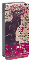 Poster Advertising An Exhibition Of The Collection Du Chat Noir Cabaret Portable Battery Charger