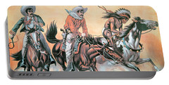 Poster For Buffalo Bill's Wild West Show Portable Battery Charger