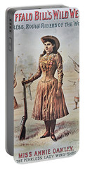 Poster For Buffalo Bill's Wild West Show With Annie Oakley Portable Battery Charger