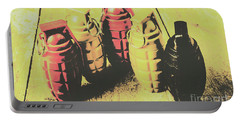 Posterized Granade Art Portable Battery Charger by Jorgo Photography - Wall Art Gallery