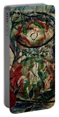 Potpourri Vase With Rose Portable Battery Charger