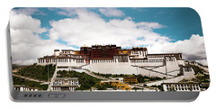 Portable Battery Charger featuring the photograph Potala Palace Dalai Lama Home Place In Tibet Kailash Yantra.lv 2016  by Raimond Klavins
