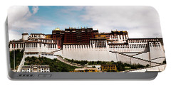 Portable Battery Charger featuring the photograph Potala Palace Dalai Lama Home Place. Tibet Kailash Yantra.lv 2016  by Raimond Klavins