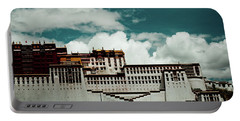 Portable Battery Charger featuring the photograph Potala Palace, Fragment. Lhasa, Tibet. Yantra.lv by Raimond Klavins