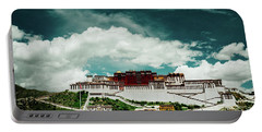 Portable Battery Charger featuring the photograph Potala Palace. Lhasa, Tibet. Dalai Lama. Yantra.lv by Raimond Klavins