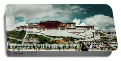 Portable Battery Charger featuring the photograph Potala Palace. Lhasa, Tibet. Yantra.lv by Raimond Klavins