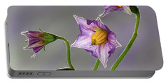Potato Flowers Portable Battery Charger