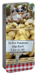 Potatoes At The Market  Portable Battery Charger by Tom Gowanlock