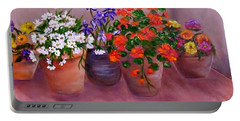 Pots Of Flowers Portable Battery Charger
