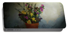 Potted Flowers 2 Portable Battery Charger