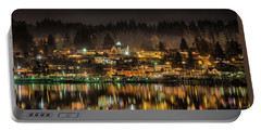 Poulsbo Waterfront 5 Portable Battery Charger by Wally Hampton