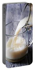 Pouring Milk Into Mug Portable Battery Charger