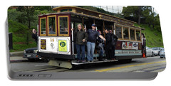 Powell And Market Street Trolley Portable Battery Charger by Steven Spak