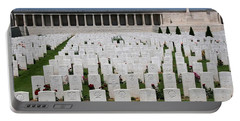 Portable Battery Charger featuring the photograph Pozieres British Cemetery by Travel Pics