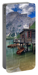 Portable Battery Charger featuring the photograph Pragser Wildsee View by Jacqueline Faust