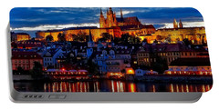 Prague Castle In The Evening Portable Battery Charger