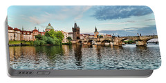Prague From The River Portable Battery Charger