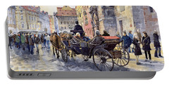 Prague Old Town Hall And Astronomical Clock Portable Battery Charger