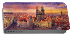 Prague Old Town Square 02 Portable Battery Charger