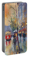 Prague Old Tram Vaclavske Square Portable Battery Charger