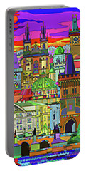 Prague Panorama Old Town Portable Battery Charger