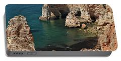 Praia Da Marinha Cliffs And Sea Portable Battery Charger