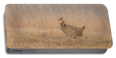 Portable Battery Charger featuring the photograph Prairie Chicken 5-2015 by Thomas Young