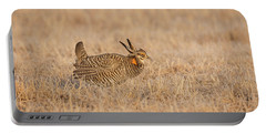 Portable Battery Charger featuring the photograph Prairie Chicken 7-2015 by Thomas Young