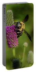 Prairie Clover And The Bee Portable Battery Charger