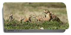 Portable Battery Charger featuring the photograph Prairie Dog Family 7270 by Donald Brown