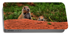 Portable Battery Charger featuring the photograph Prairie Dogs 004 by George Bostian