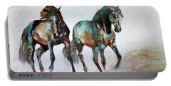 Prairie Horse Dance Portable Battery Charger