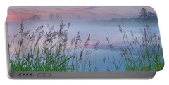 Portable Battery Charger featuring the photograph Prairie Pond Before Sunrise by Dan Jurak