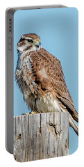 Portable Battery Charger featuring the photograph Prarie Falcon by Norman Hall