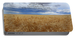 Portable Battery Charger featuring the photograph Pray Without Ceasing by Lynn Hopwood