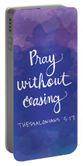 Pray Without Ceasing Portable Battery Charger