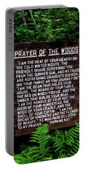 Prayer Of The Woods Portable Battery Charger by Michelle Calkins
