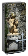 Praying Angel In Auvillar Cemetery Portable Battery Charger by RicardMN Photography