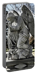 Praying Cemetery Angel  Portable Battery Charger by Gary Whitton